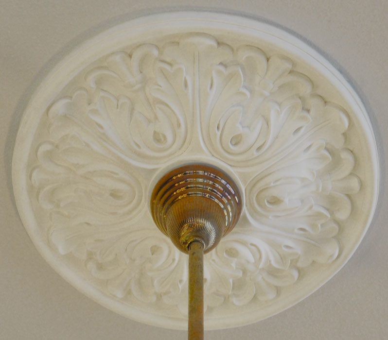 Plaster Ceiling Medallion Recreated Shallow Acanthus