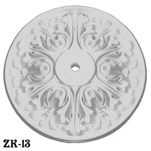 "Plaster Ceiling Medallion Recreated Shallow Acanthus Design 20"" Diameter (ZK-13)"