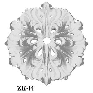 Recreated Small Loop Design 16 Inch Diameter Plaster Ceiling Medallion (ZK-14)