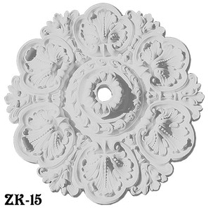 "Recreated Acanthus 30"" Diameter Real Plaster Ceiling Medallion (ZK-15)"
