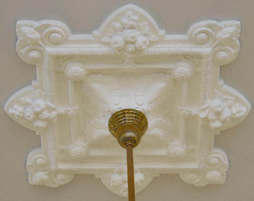 Plaster Ceiling Medallion Recreated Cornucopia Design 30 X 35 Alternate View 0 1