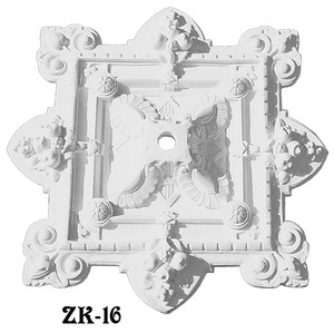 "Plaster Ceiling Medallion Recreated Cornucopia Design 30 X 35"" (ZK-16)"