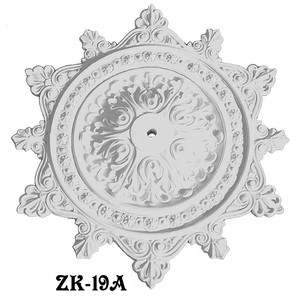 "Large 38"" Decorative Real Plaster Ceiling Medallion (ZK-19A)"
