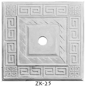 "Plaster Art Deco Square Plaster Ceiling Medallion 18"" x 18"" sq.(ZK-25)"