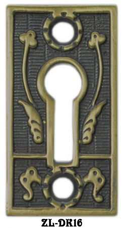 Lost Wax Cast Eastlake Keyhole Escutcheon (ZL-16)