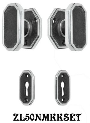 Art Deco Door Set 1 Inch Narrow Backset Keyed Locking Mortise (ZL50NMKKSET)