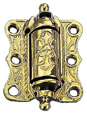 decorative victorian door coiled spring hinge zlw 108 - Decorative Hinges