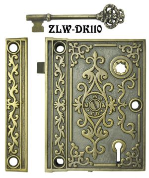 Recreated-Mallory-and-Wheeler-Victorian-Rim-Lock-2.5-inch-Backset-(ZLW-110)