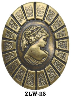 Victorian Lady Portrait Oval Handle (ZLW-118)