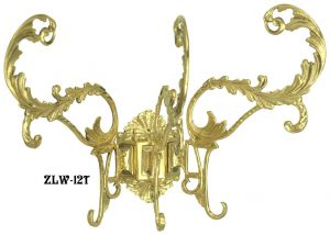 Antique Recreated Rococo Large Triple Hook (ZLW-12T)