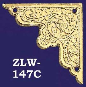 Asian Floral Design Decorative Corner Brass (ZLW-147C)