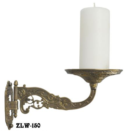 Decorative Brass Swivel Candle or Plant Holder Wall Sconce in Aesthetic Style (ZLW-150)