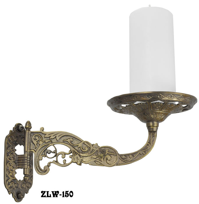 Wall Sconce Plant Holder : Vintage Hardware & Lighting - Decorative Brass Swivel Candle or Plant Holder Wall Sconce in ...