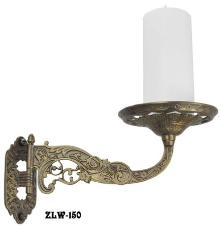 Decorative-Brass-Swivel-Candle-or-Plant-Holder-Wall-Sconce-in-Aesthetic-Style-(ZLW-150)