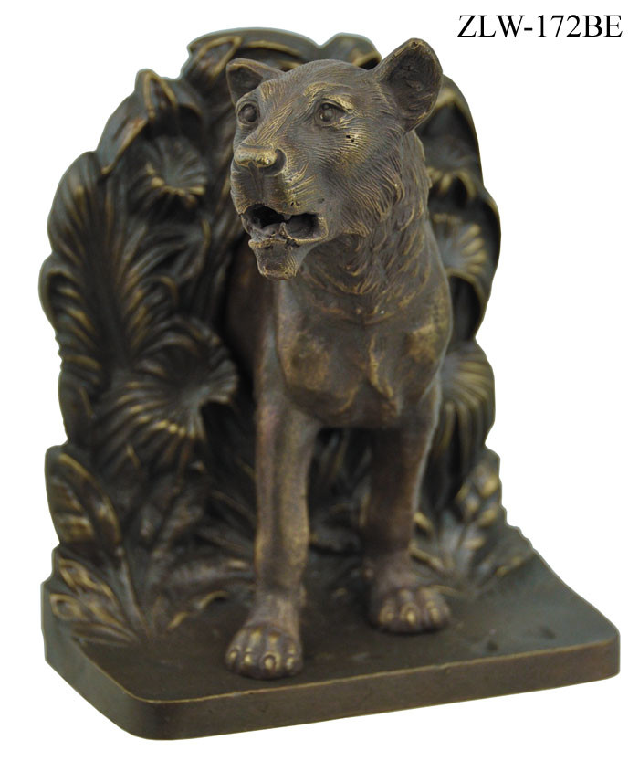 Vintage Hardware Amp Lighting Lion Bookends By Bradley