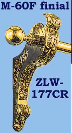 Rococo-Style-Brass-Curtain-End-Bracket-(ZLW-177CR)