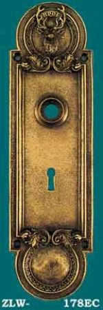 Elk's Club Emblematic Door Plate Escutcheon Antique Recreated (ZLW-178EC)