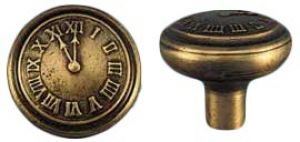 Vintage Style Elk's Club Clock Face Doorknob Antique Recreated (ZLW-179K)