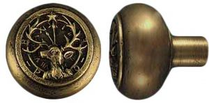 Vintage Style Elk's Club Emblematic Door Knob Antique Recreated (ZLW-180K)