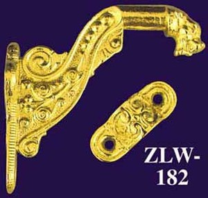 Wonderful Lion Head Motif Stair Rail Bracket Circa 1880 (ZLW-182)