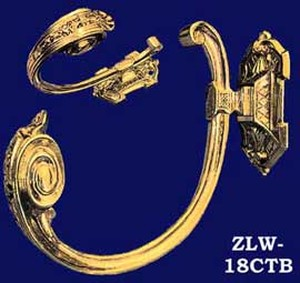 Victorian Recreated Elegant Sweeping Curtain Tieback (ZLW-18CTB)