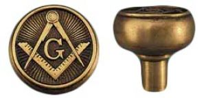 Vintage Recreated Mason's Emblematic Doorknob C1900 (ZLW-192K)