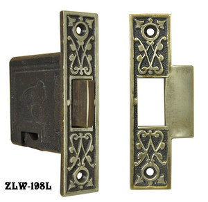 "Recreated R&E Thumb Latch 2"" Backset (ZLW-198L)"