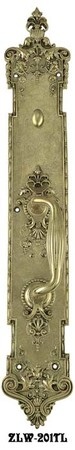 "Victorian Recreated P&F Corbin Toulon Interior Door Plate 22 1/4"" Tall (ZLW-201TL)"