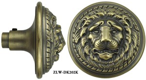 Victorian Schlage Recreated Large Lion Head Door Knob (ZLW-202K)
