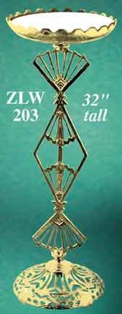 Art Deco Recreated Brass & Marble Stand (ZLW-203)