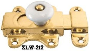 Plain Slide Bolt With Porcelain Knob (ZLW-212)