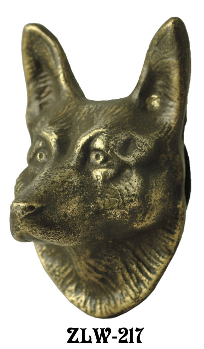 Vintage Hardware Lighting Door Wolf Or Shepherd Dog