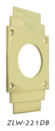 Art-Deco-Deadbolt-Cylinder-Coverplate-(ZLW-221DB)