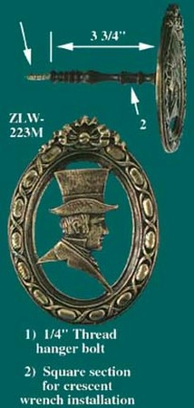 Male Portrait Curtain Tieback (ZLW-223M)