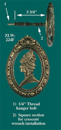 Female Portrait Curtain Tieback (ZLW-224F)
