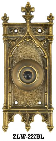 Antique Recreated Amiens Gothic Pushbutton Door Bell (ZLW-227BL)