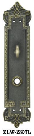 Byzantine Gothic Door Plate with Turnlatch (ZLW-230TL)