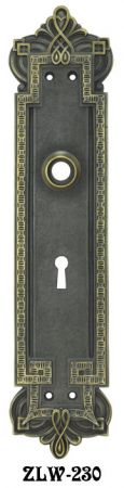 Victorian Byzantine Gothic Door Plate with Keyhole (ZLW-230)
