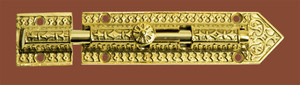 Large Eastlake Ornate Door Bolt - Choice Of Finish (ZLW-231B)