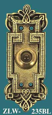 Byzantine Gothic Style Push Button Electric Doorbell (ZLW-235BL)
