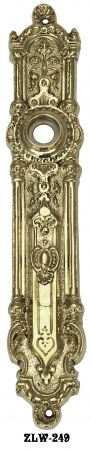 Superb Narrow Victorian Door Plate (ZLW-249)