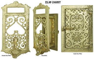 Speakeasy Heart Door Security Grille or Peephole Set (ZLW-24HRT)