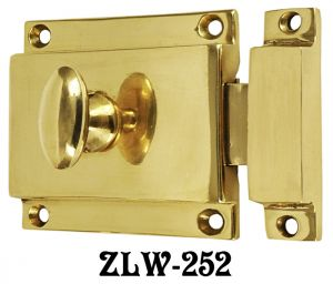 Brass Turn Latch with Surface Catch - Choice Of Finish (ZLW-252)