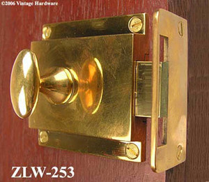 Brass Turn Latch With Rim Catch - Choice Of Finish (ZLW-253)