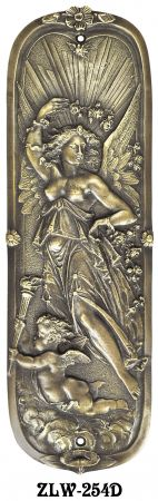 Figural Door Pushplate Goddess Of Day (ZLW-254D)