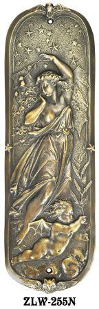 Figural Door Pushplate Goddess Of Night (ZLW-255N)