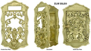 Rampart Lions Speakeasy Set With Doorknocker or Peephole (ZLW-25LEO)