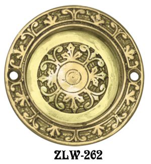 Victorian Round Recessed Pocket Door Handle (ZLW-262)