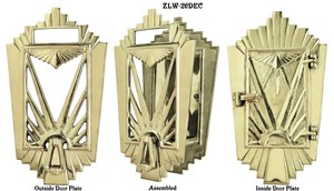 Art Deco Door Grille Or Speakeasy or Peephole Set (ZLW-26DEC)