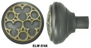 Victorian Recreated Amiens Gothic Door Knob (ZLW-274K)